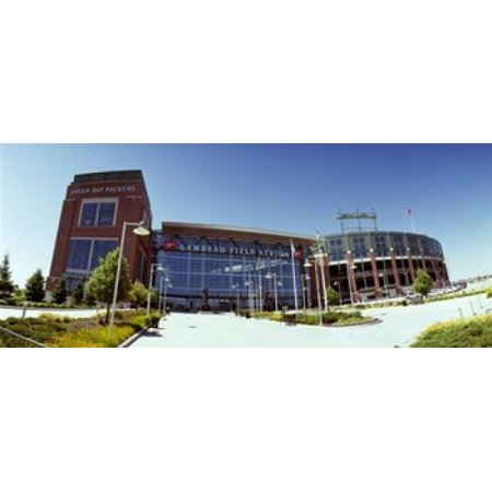 Facade of a stadium Lambeau Field Green Bay Wisconsin USA Stretched Canvas - Panoramic Images (30 x -