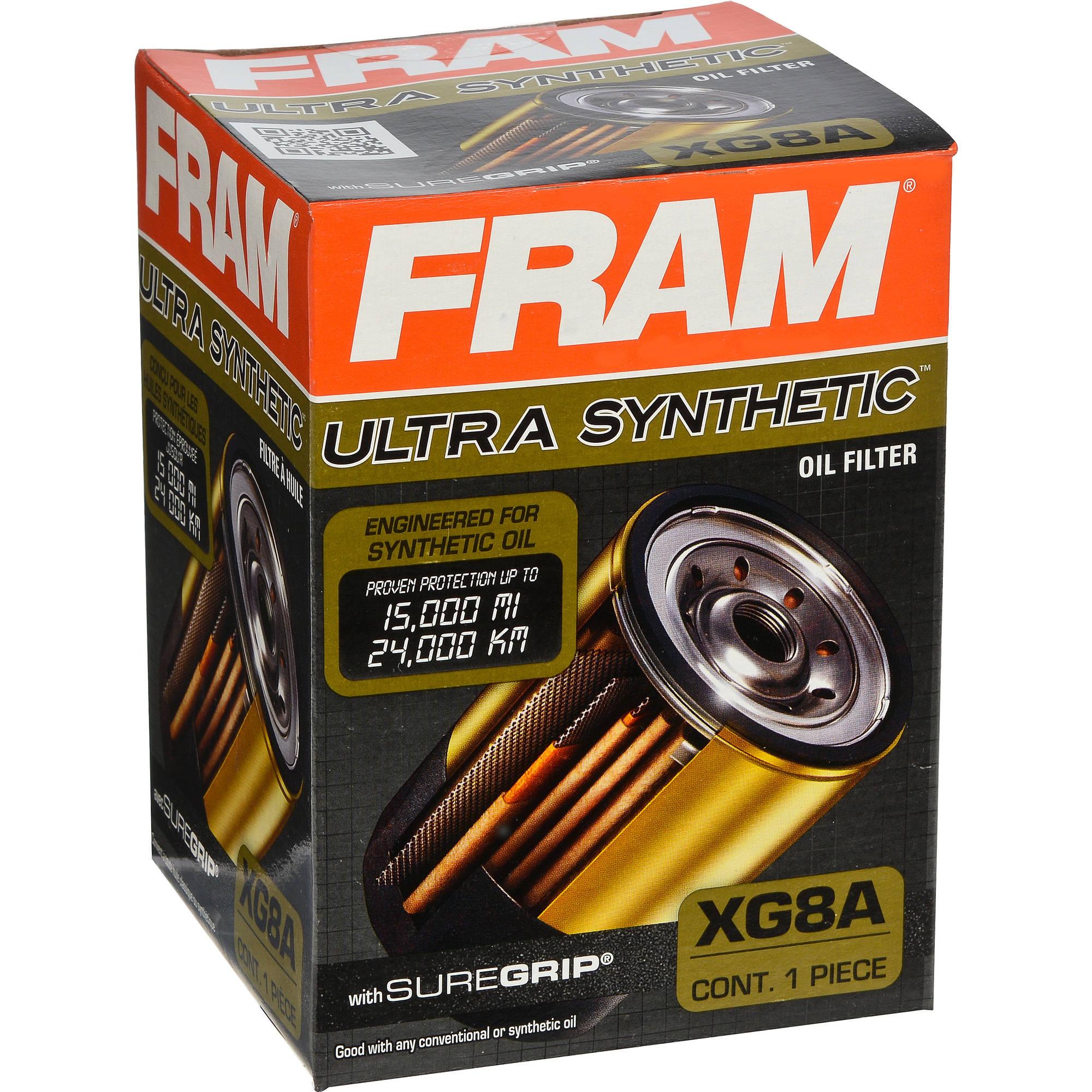 FRAM Ultra Synthetic Oil Filter, XG8A