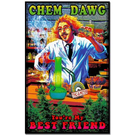 Chem Dawg Youre My Best Friend Music Blacklight Poster 24x36