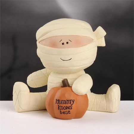 Blossom Bucket Halloween Decor - Mummy Knows Best