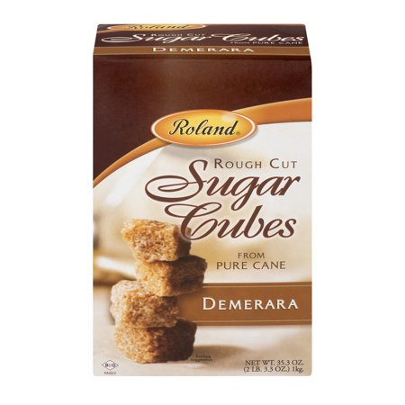 Sugar Cubes ((2 Pack) Roland Rough Cut Sugar Cubes from Pure Cane, 35.3 OZ )