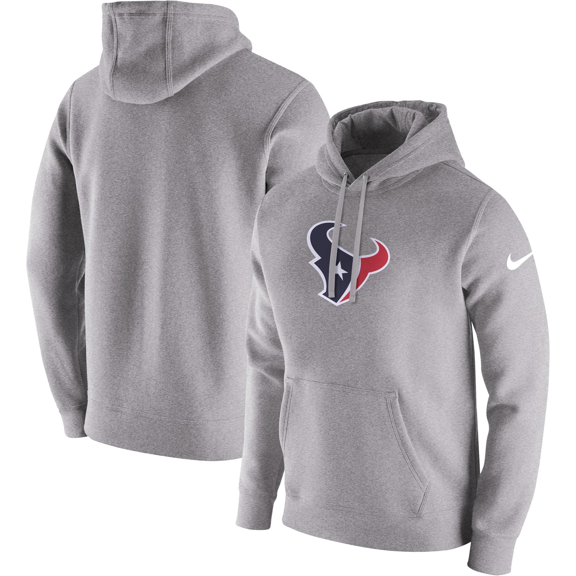 Houston Texans Nike Club Fleece Pullover Hoodie - Heathered Gray