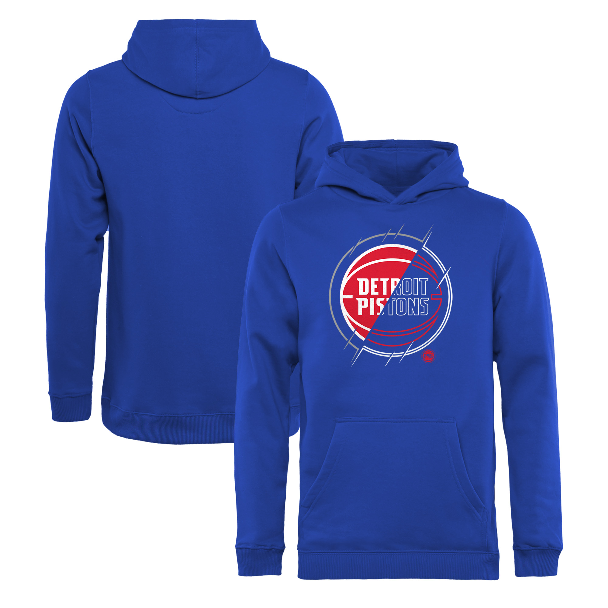 Detroit Pistons Fanatics Branded Youth X-Ray Pullover Hoodie - Royal