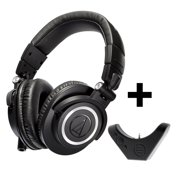 Audio-Technica ATH-M50x Professional Studio Monitor Headphones with Bluetooth Adapter-Amplifier BAL-M50X