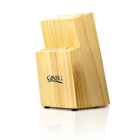 Ginsu Essential Series Kitchen Knife Storage and Counter Organizer - 13  Slot Knife Block in a Natural Finish, GBL-NN-DS-001-1