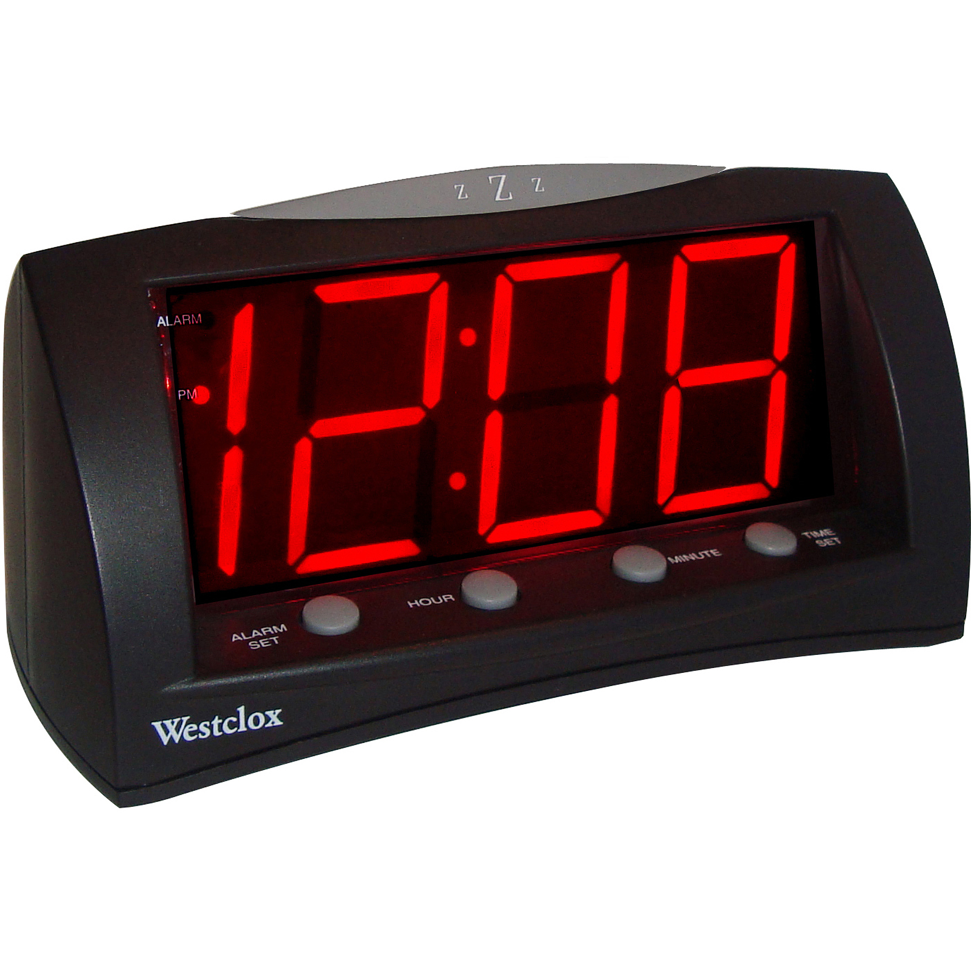 westclox extra large red led display digital electric alarm clock with snooze ebay. Black Bedroom Furniture Sets. Home Design Ideas