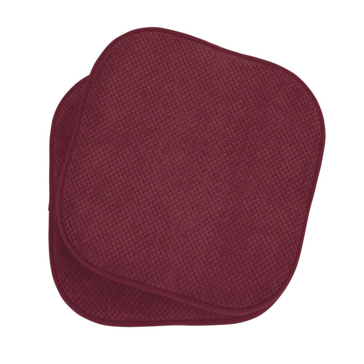 2 Pack: GoodGram Non Slip Ultra Comfort Memory Foam Chair Pads Wine by GoodGram