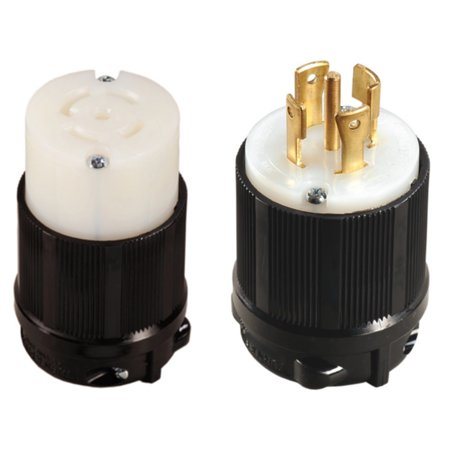 NEMA L21-30 Plug and Connector Set - Rated for 30A, 120/208V, 5-Wire, 4 Pole - cUL Listed