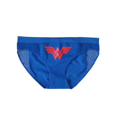 best selection of save up to 80% preview of DC Comics Womens Blue Wonder Woman Seamless Bikini Briefs Underwear Panties