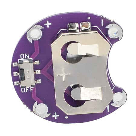 LilyPad Cell Button CR2032 Battery Holder Module - Purple (Lilypad Coin Cell Battery Holder)