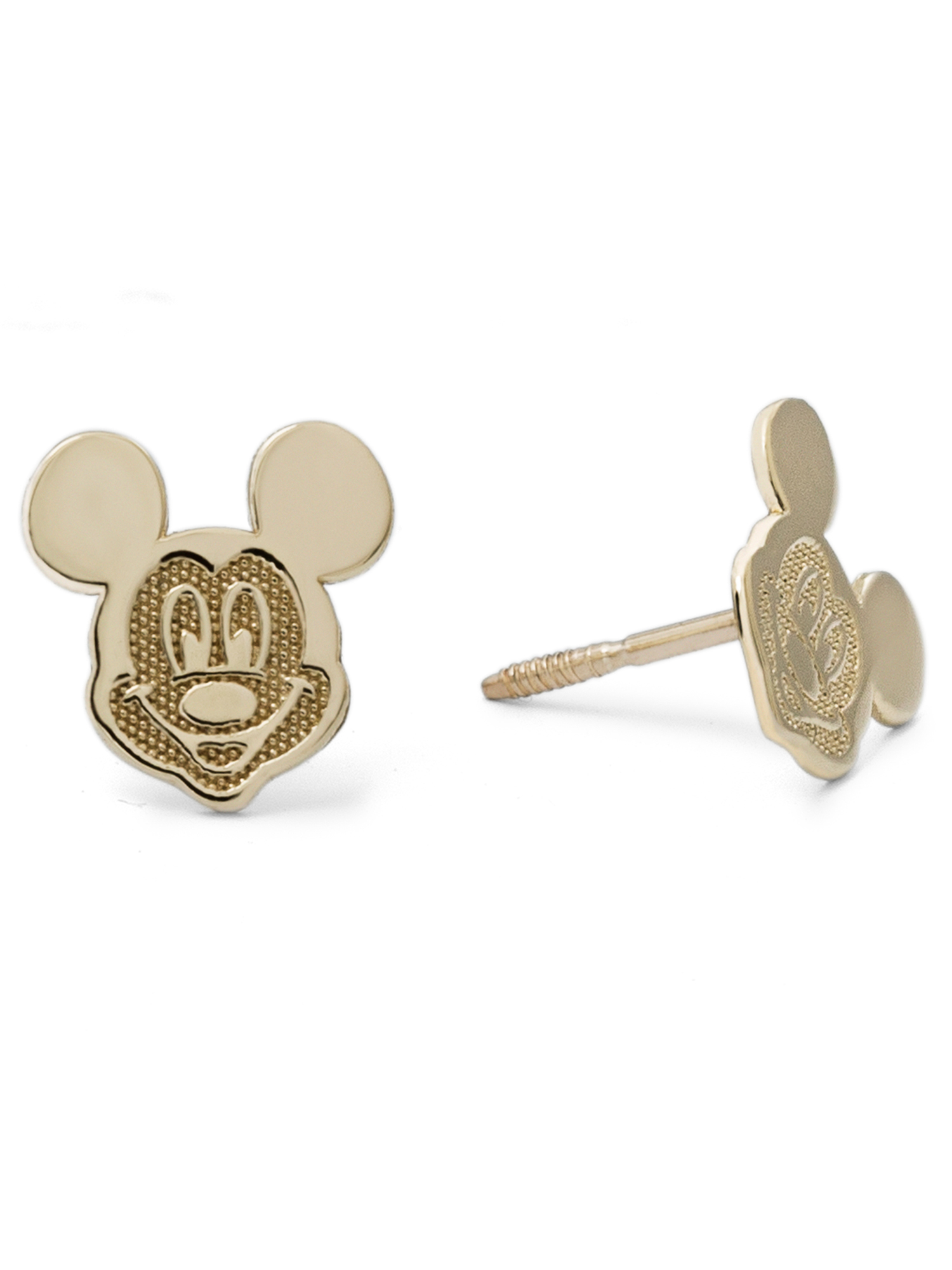 Disney 10kt Yellow Gold Mickey Mouse Stud Earrings