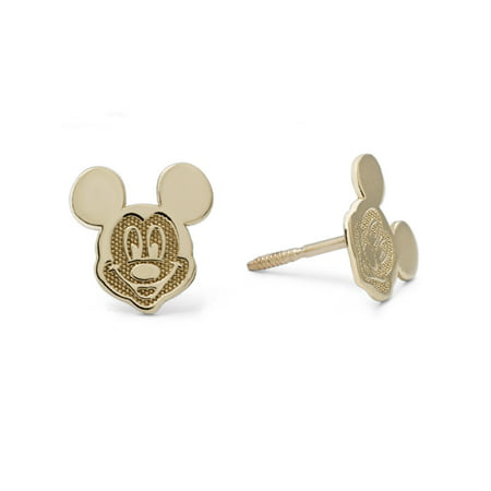 Disney 10kt Yellow Gold Mickey Mouse Stud Earrings Classic Mickey Mouse Earrings