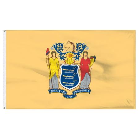 New Jersey flag 2 x 3 feet (Jersey Garden Stores)