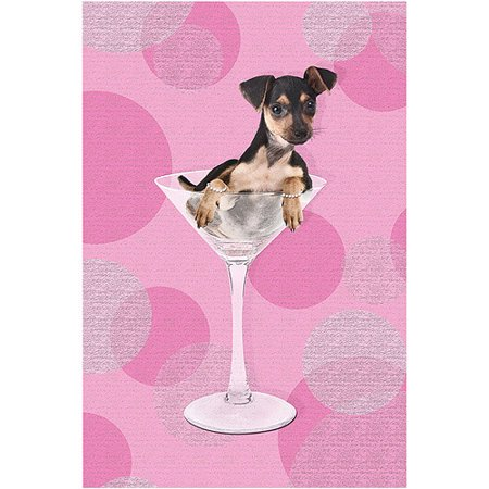 "Trademark Fine Art ""Min Pin II"" Canvas Art by Gifty Idea Greeting Cards and Such!"