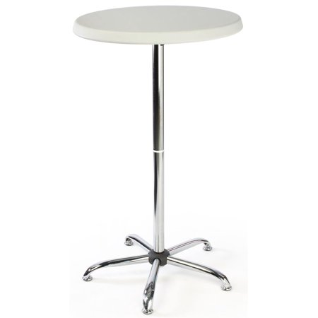 47-inch-tall Round Pub Table with Plastic Top, 27-inch Diameter, Sturdy Steel Stand (FOLDR2646)