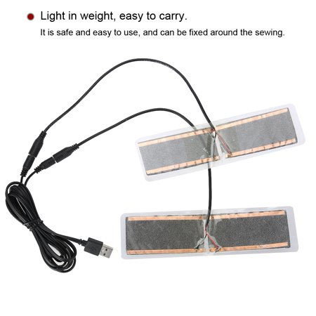 HURRISE 1 Pair 5V USB Electric Heating Element Insoles Film Heater Foot Warming Pad, USB Heating Pad,USB Heating Film - image 3 of 8