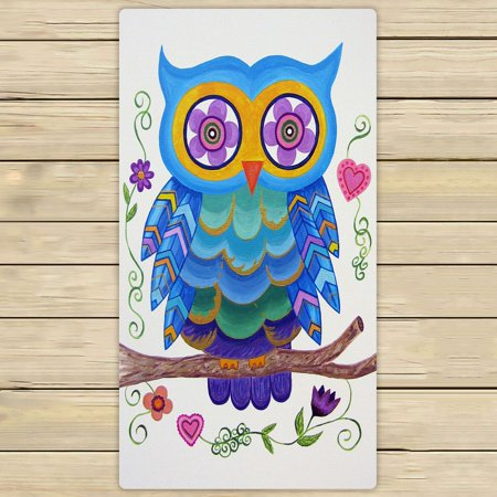 ZKGK Owl Art Pattern Hand Towel Bath Towels Beach Towel For Home Outdoor Travel Use Size 30x56 Inches ()