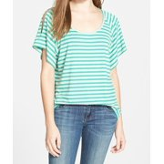 Two By Vince Camuto NEW Jade Green Striped Women's Size Small S Blouse
