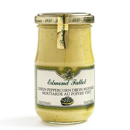- Edmond Fallot – Dijon Mustard – Green Peppercorn, 7.4oz Jar