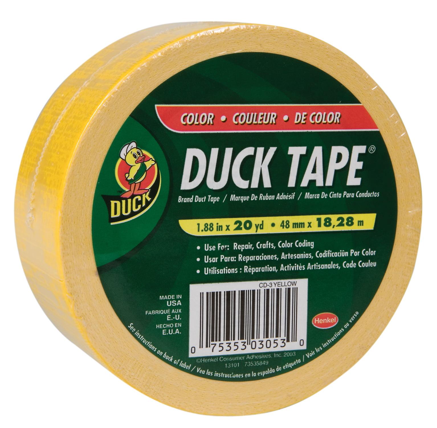 """Duck Brand Duct Tape, 1.88"""" x 20 yard, Yellow"""