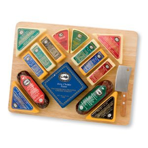 Gourmet Sausage and Cheese Gift with Cutting Board - Grea...