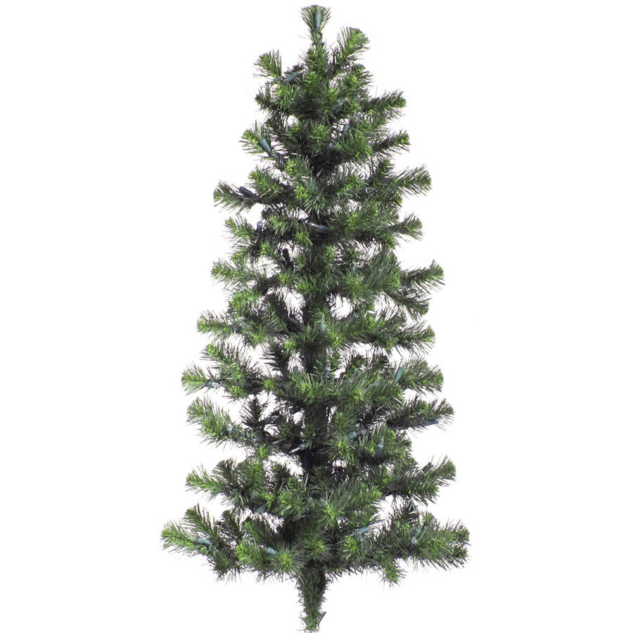 "Vickerman 48"" Douglas Fir Artificial Christmas Wall Tree, Unlit"