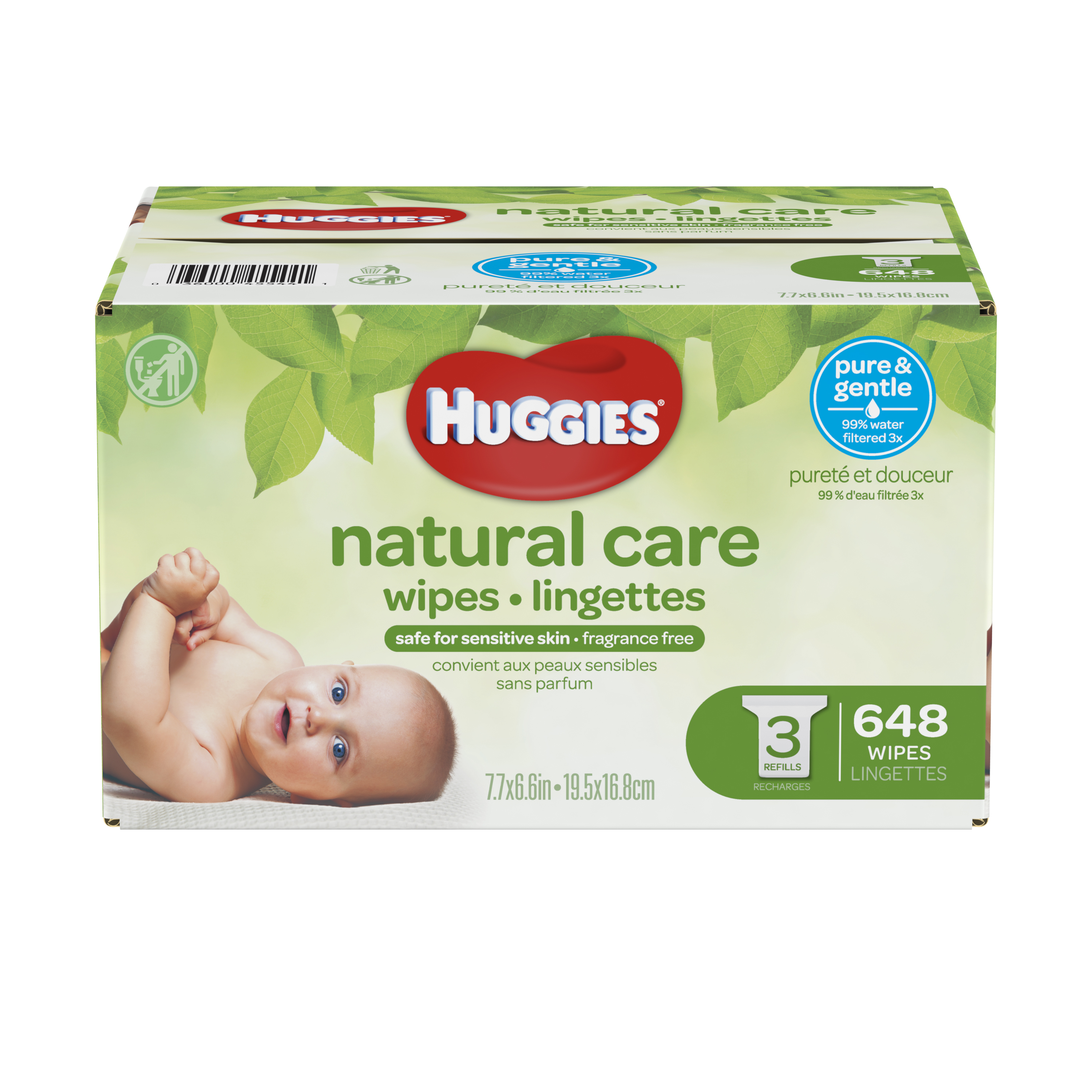 Huggies Natural Care Baby Wipes Refills (Choose Your Count)