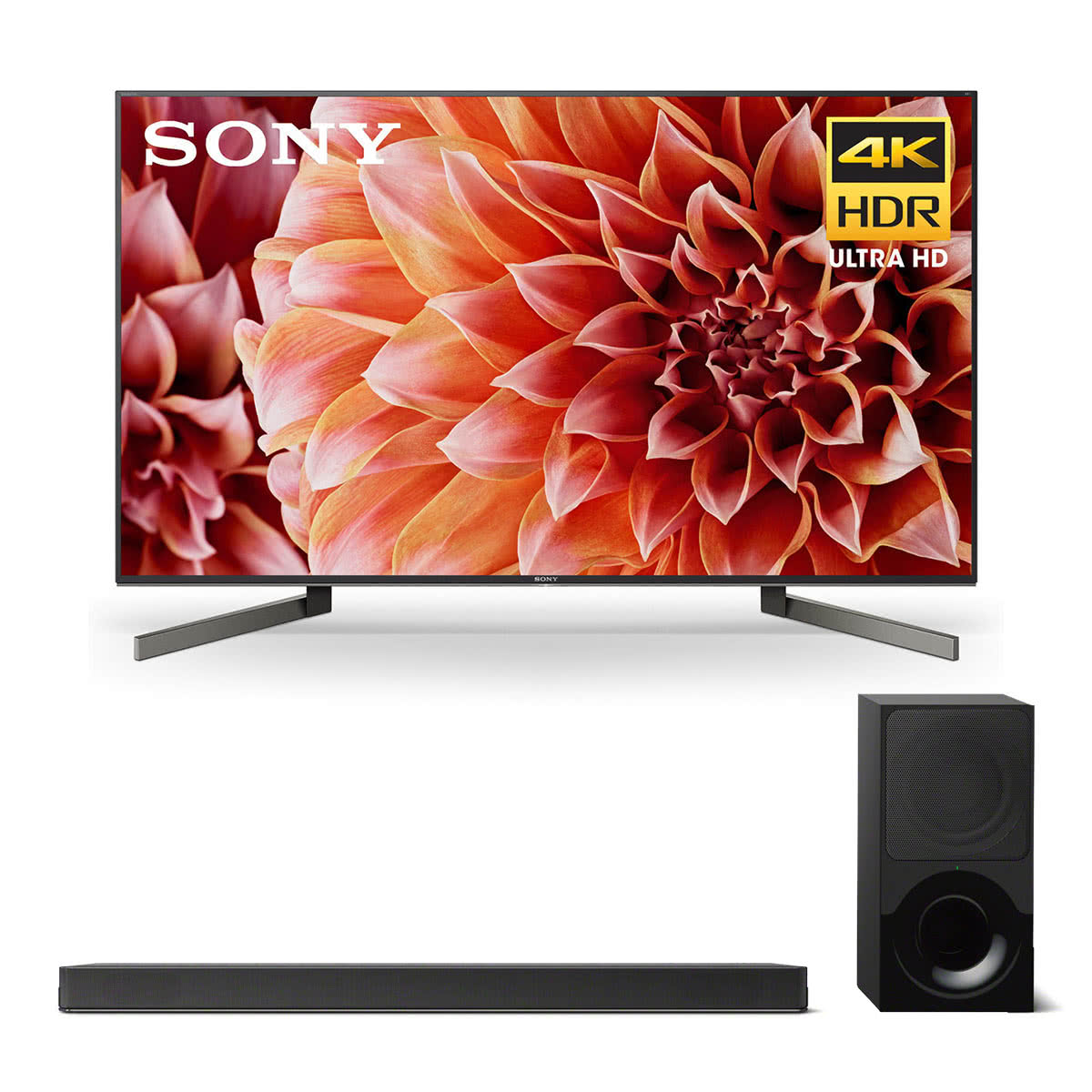 """Sony XBR-55X900F 55"""" BRAVIA 4K Ultra HD HDR Smart TV and HT-X9000F 2.1-Channel Dolby Atmos Soundbar with Subwoofer"""