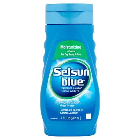 Moisturizing Black Hair - Selsun Blue Moisturizing Dandruff Shampoo with Aloe for Dry Scalp and Hair, 7oz