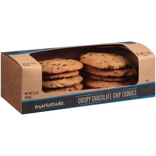 Marketside Crispy Chocolate Chip Cookies, 12 count, 7.2 oz
