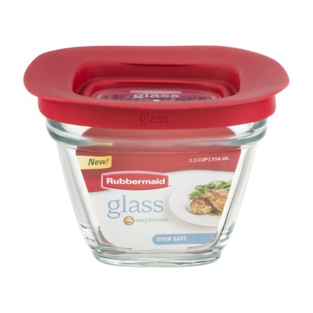 Rubbermaid Glass Easy Find Lids 1 5 Cup  1 0 Ct