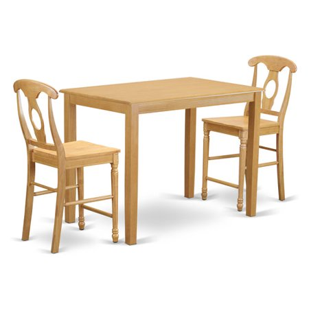 Height Dining Table Set Pub Table And 2 Dining Chairs
