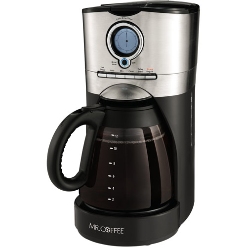 Mr. Coffee 12 Cup Programmable Coffee Maker Stainless and Black