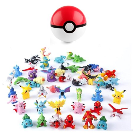 Pokeball Cosplay Pop-up 7cm Plastic Ball Toy Action Figure and 24pc Random -