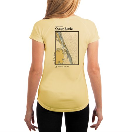 - Outer Banks Chart Women's UPF 50+ UV/Sun Protection Short Sleeve T-Shirt
