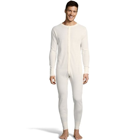 Mens Waffle Knit Thermal Union Suit, XL, Natural](Naked Men In Suits)