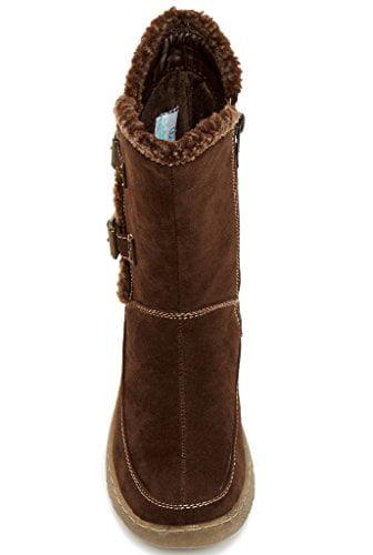 Serene Women's Aaleyah Boot, Brown Suede, 8 M US
