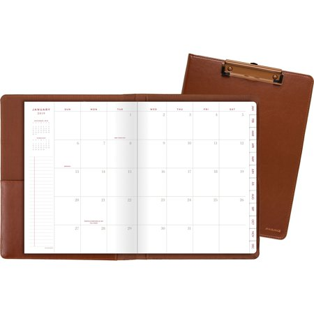 - At-A-Glance, AAGYP60009, Signature Collection ClipFolio with Monthly Planner, 1 Each, Brown