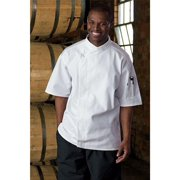 0428-2509 Calypso Chef Coat in White - 5XLarge