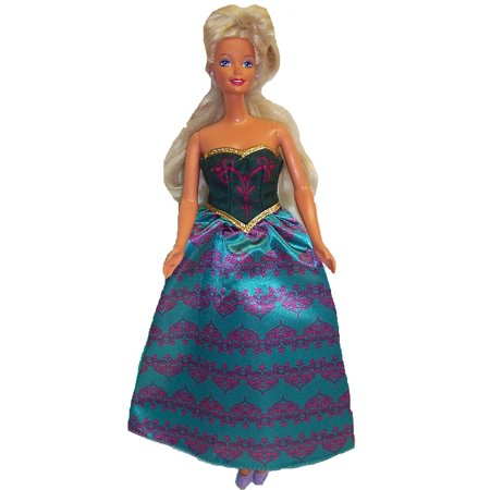 Doll Clothes Superstore 11 1/2 Inch Fashion Doll Green Evening Gown