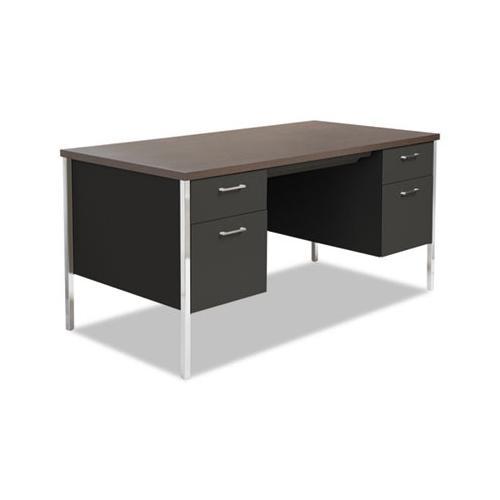 Double Pedestal Steel Desk Alesd6030bw Walmart Com