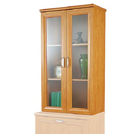 2 Shelf Hutch (Realspace Magellan Collection 2-Shelf Hutch With Doors, Honey Maple)