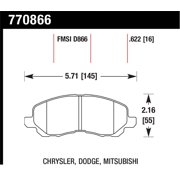 Hawk Performance 770866 OES Disc Brake Pads