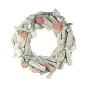 "12.5"" Nautical Driftwood and Seashell Artificial Summer Wreath"