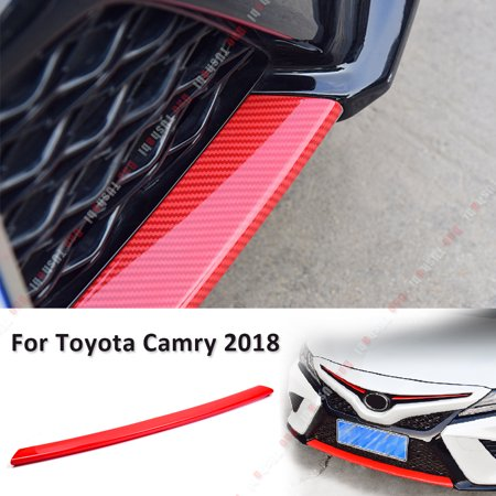 Toyota Camry Front Reinforcement Bumper - Carbon Fiber Style Front Bumper Grille Moulding Cover For Toyota Camry 2018 2019