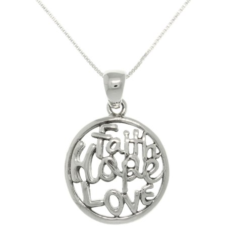 Jewelry trends sterling silver 39 faith hope love 39 necklace for Faith hope love jewelry