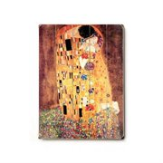 Artehouse LLC The Kiss Planked by Gustav Klimt Graphic Art Plaque