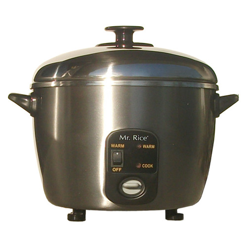 Sunpentown 6 Cup Stainless Steel Rice Cooker and Steamer