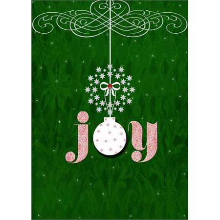 LPG Greetings Joy Tip On Ornament and Gem: Handcrafted Jill Meyer Christmas Card ()