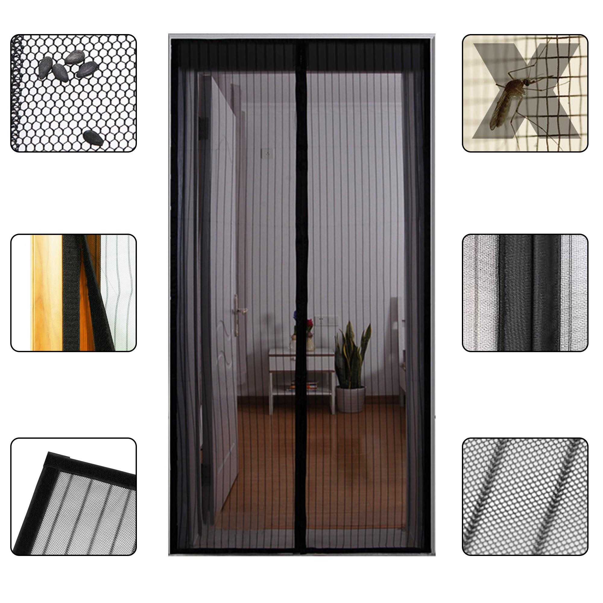 Hoobest Magnetic Screen Door-Heavy Duty Mesh /& Full Frame Velcro Fits Doors Openings Up to 34x82 S-White